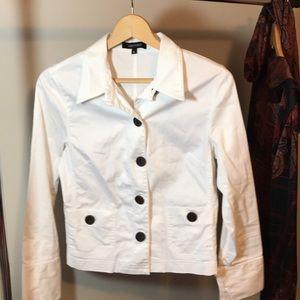 Karen Kane white canvas stretch jacket M